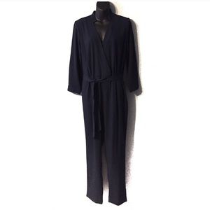 Banana Republic Navy Blue Belted Jumpsuit